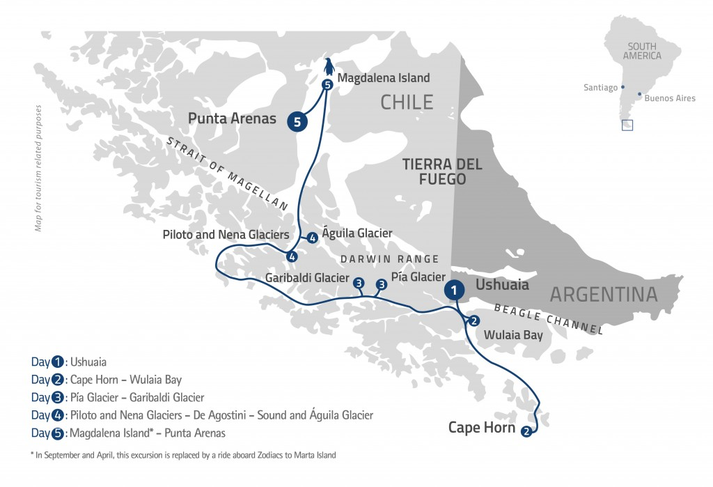 Cape Horn Expedition Cruise Tierra Del Fuego Tours Far South Exp - Argentina cape horn map