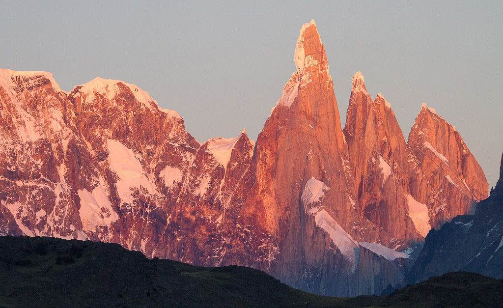 The mythic Cerro Torre at dawn, El Chalten, Argentina © Claudio F. Vidal, Far South Exp