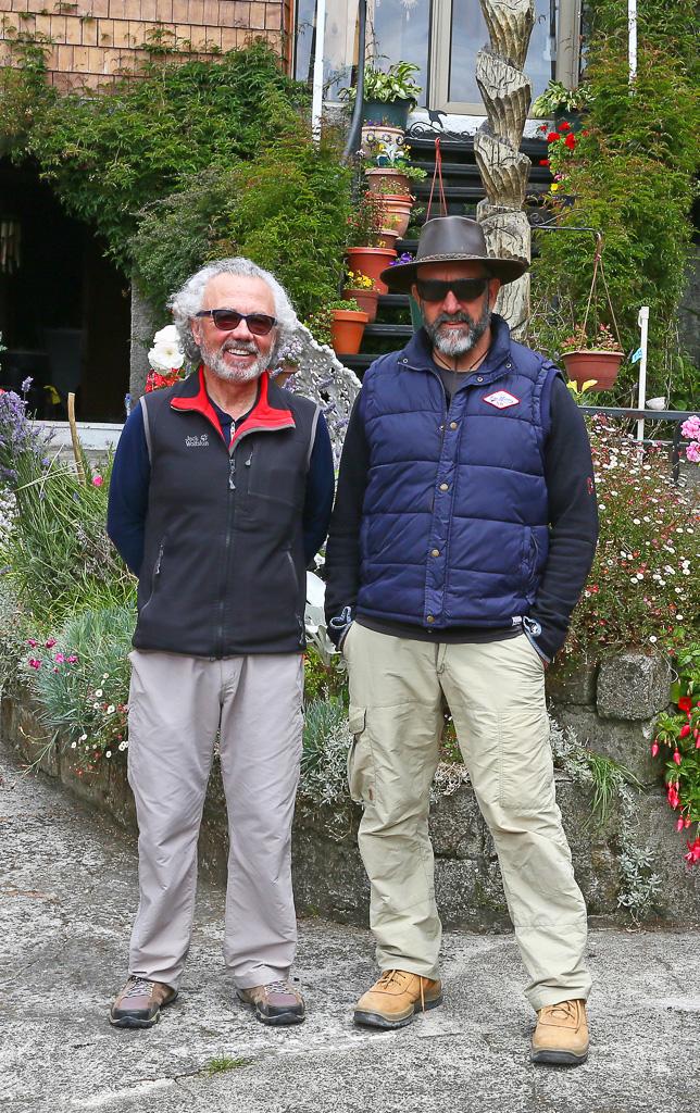 Ornithologists Hadoram Shirihai (right) & Enrique Couve (left), Chile